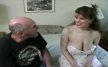 Tessa with a old fart - broad in the beam mammaries