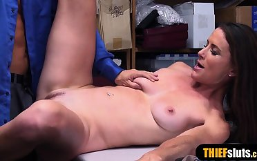 French mature shoplifter got caught and punish fucked