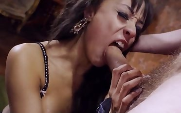 Alyssa manhandled - gagging on gigantic learn of