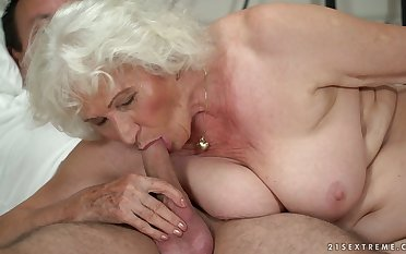 Grown-up chubby blonde whore Norma B deserves some hard banging